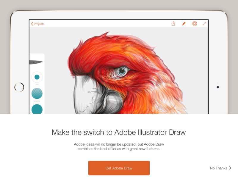 Make the switch to Adobe Illustrator Draw? No thanks.